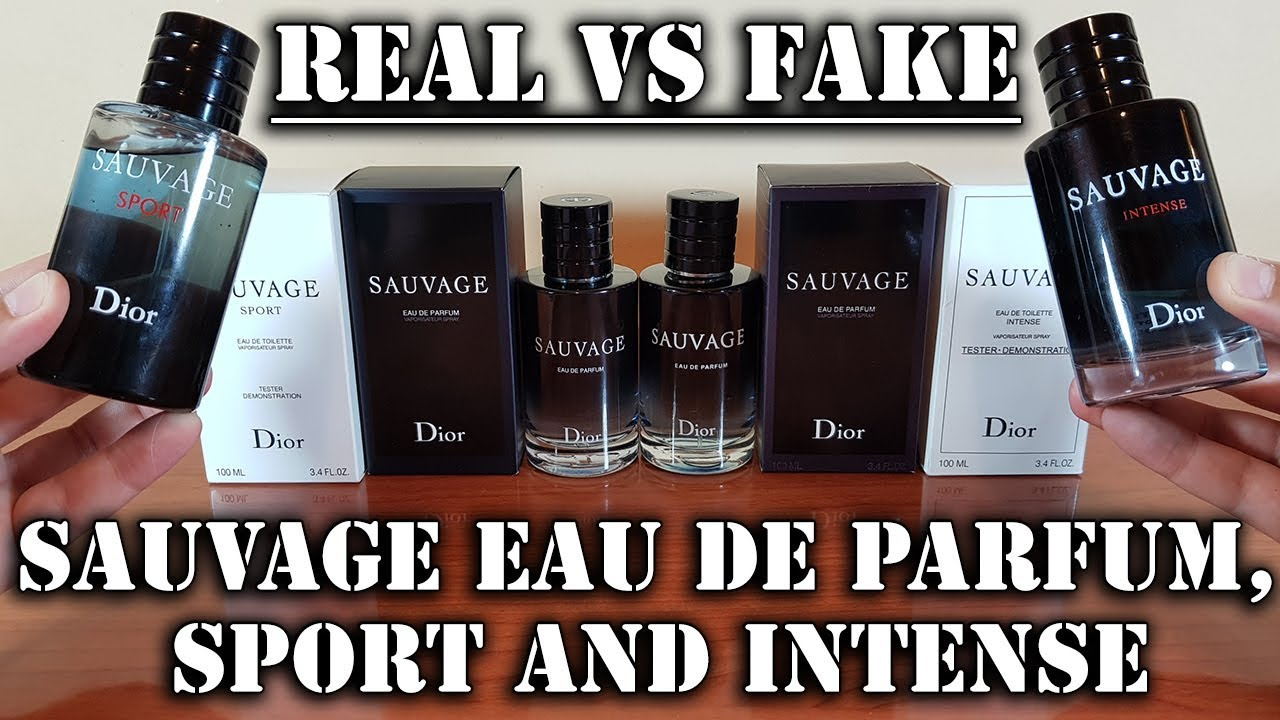 Fake fragrances - Sauvage Parfum 2018, Sport and Intense by Christian Dior