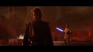 Мустафар. Падме не узнает Энакина. Начало схватки между Оби-Ваном и Энакином. HD