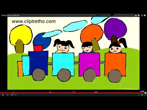 Vẽ đoàn tàu,dạy vẽ đoàn tàu,xe lửa-drawing trains