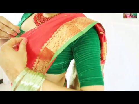 How To Wear Wedding South Indian Silk Saree Perfectly To Look Beautiful