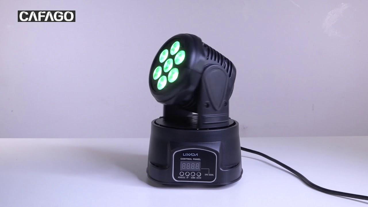 Lixada DMX-512 Mini 4 In 1 RGBW LED Stage Light