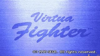 Virtua Fighter gameplay (PC Game, 1995)