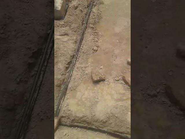 Anti termite pipe installation for basements