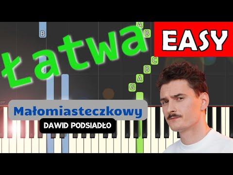 🎹 Małomiasteczkowy (D. Podsiadło) - Piano Tutorial (łatwa wersja) 🎹