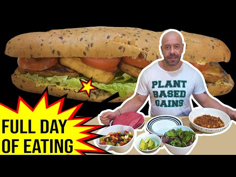 What I Eat In A Day For Lean Vegan Muscle | Vlog