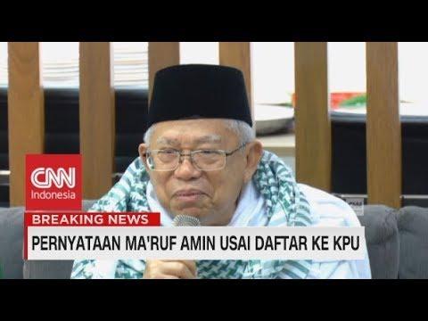 Usai Daftar ke KPU, Ma'ruf Amin: Saya Siap! Pilpres 2019 Mp3