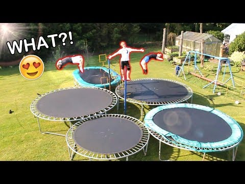 BACKYARD TRAMPOLINE PARK! - YouTube