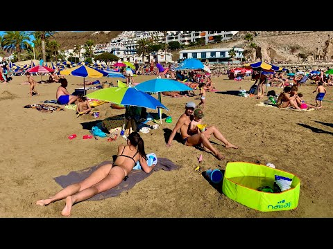 Gran Canaria Puerto Rico Beach Today at 29 °C on  02.02.2020