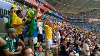 Фото Матч Бразилия   Мексика. Бразильские болельщики радуются голу Неймара