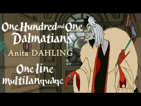 101 Dalmatians  Anita darling! One Line Multilanguage With S&T