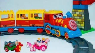 Мультики про паровозики - Парк развлечений. Видео с игрушками для самых маленьких про поезда.