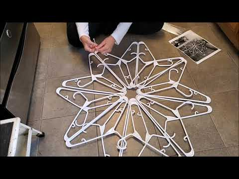 #1 how to make a plastic hanger snowflake decoration diy