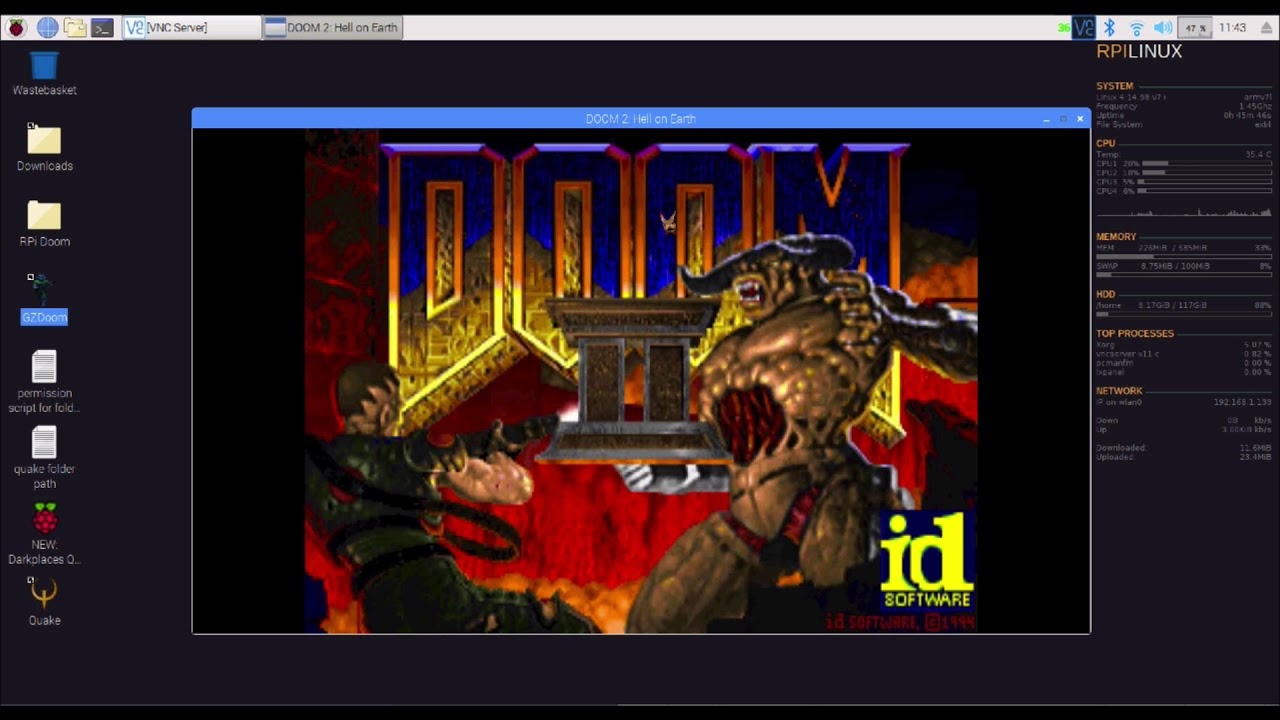 Set up GZDoom on Raspberry pi (Rpi) install Doom on rpi without dosbox or  retropi