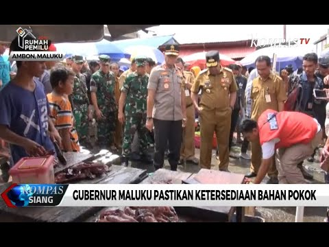Gubernur Maluku Pastikan Ketersediaan Bahan Pokok
