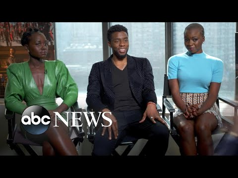 'Black Panther' stars on the power of telling a story from a black perspective
