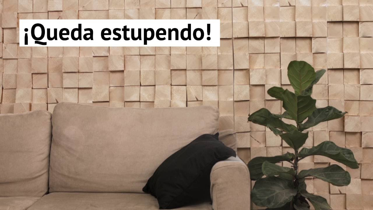 Mejora la decoraci n de tu habitaci n con una pared de - Habitacion de madera ...