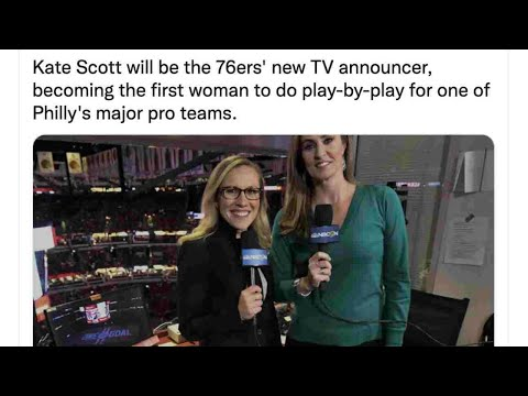 Kate Scott Is Philadelphia's First Female Sports Broadcaster - That's No Accident - Here's Why https://youtu.be/nqv23lhOUYk
