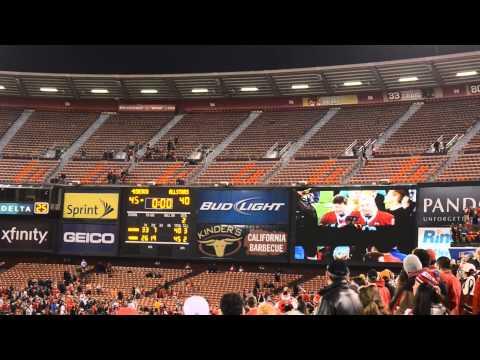 Candlestick Park Final Speech Joe Montana and Eddie DeBartolo 49ers Legends vs. NFL All Stars