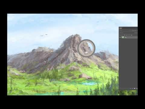 Как нарисовать пейзаж в фотошопе, цифровая живопись (Digital Painting / Photoshop)