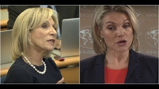 State Department's Heather Nauert has a HEATED Debate with Liberal Reporter of the Budget at the DOS