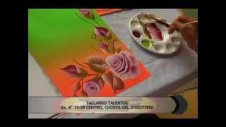 Diseño de Tarjetas Con Tecnica de Pincelada Americana
