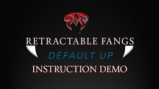 "Scarecrow Retractable Fangs ""Default Up"" - Instruction Demo"