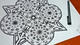 Drawing The Arq Mandala Design in Timelapse