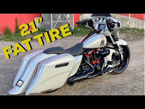 "New 2020 21"" Harley Street Glide Fat Tire Custom Bagger For Sale 54,000 (part 2)"
