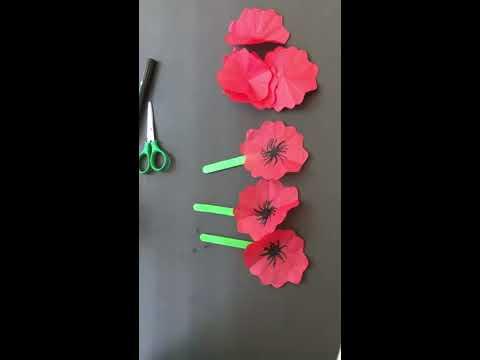 Poppy flower DIY for kids