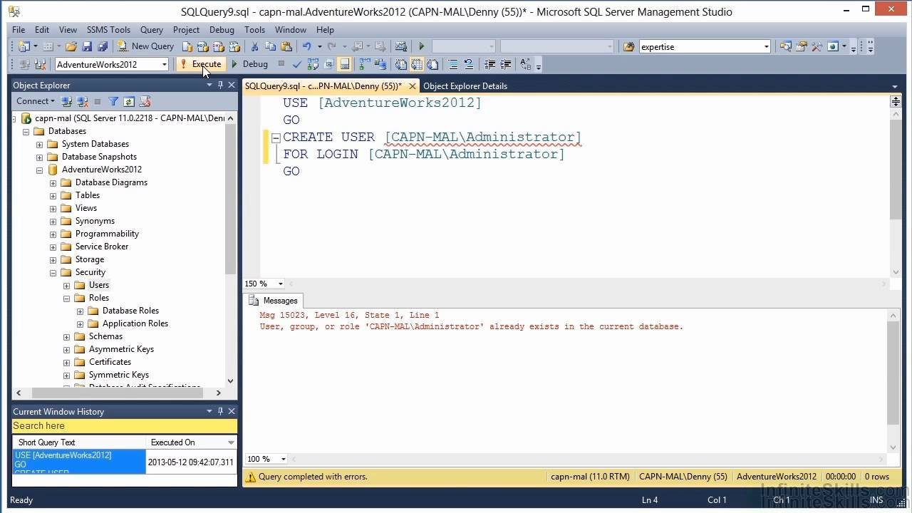 Microsoft sql server 70 462 tutorial creating database users microsoft sql server 70 462 tutorial creating database users 1betcityfo Image collections
