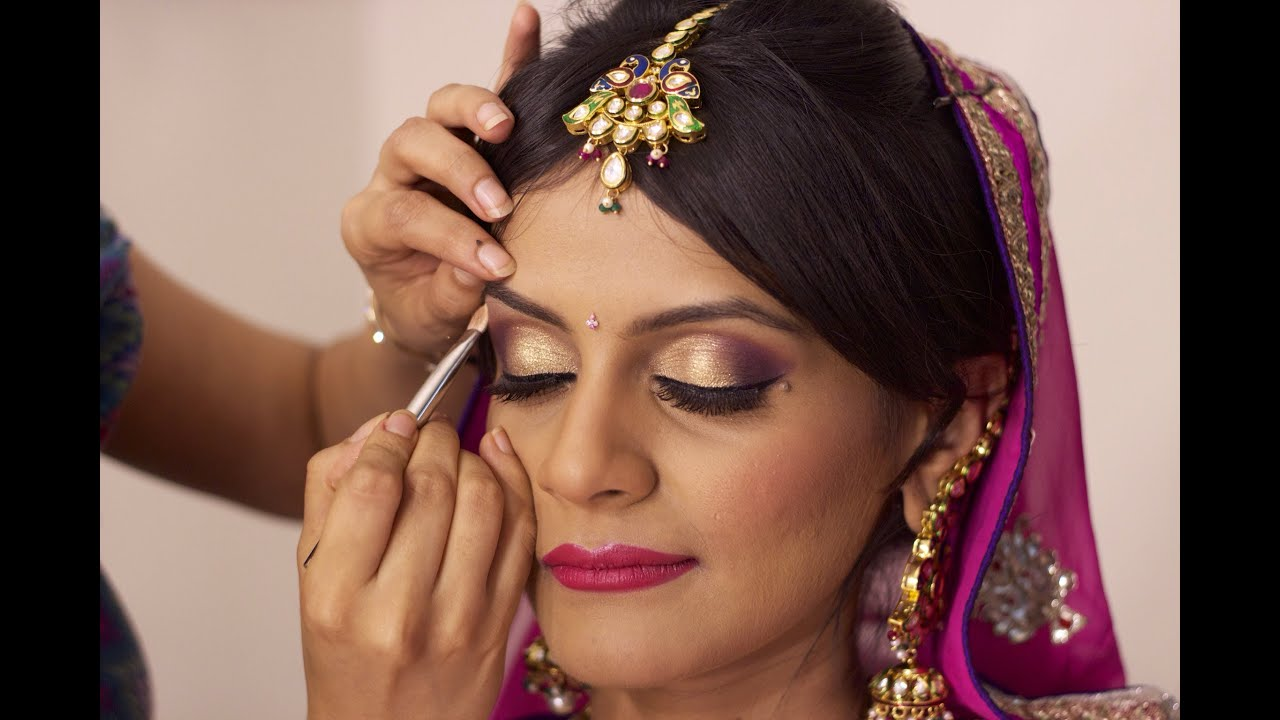 indian bridal makeup | north indian - youtube