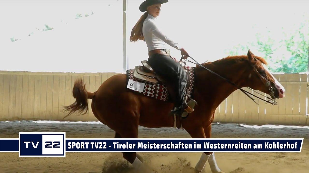 SPORT TV22: Tiroler Meisterschaften im Westernreiten am Kohlerhof in Volders - Reining Samstag