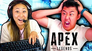 Teaching LIZZY SHARER How To Play Apex Legends