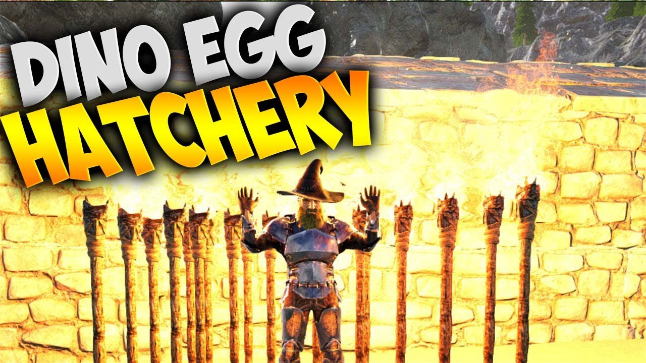 Ark Dino Egg Hatchery | Megalanias & Ice Wyvern Baby with ...