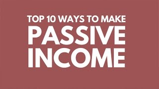 Top 10 Ways to Earn Passive Income I'm doing it right now! thumbnail