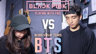 BTS - Blood Sweat & Tears (피땀눈물) X BLACKPINK - Playing With Fire (불장난) MASHUP