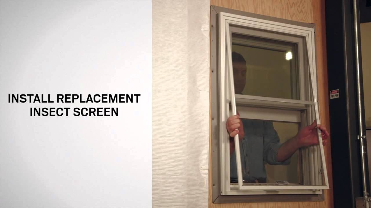 Replacing the Insect Screen on A-Series Double-Hung Windows | Andersen  Windows