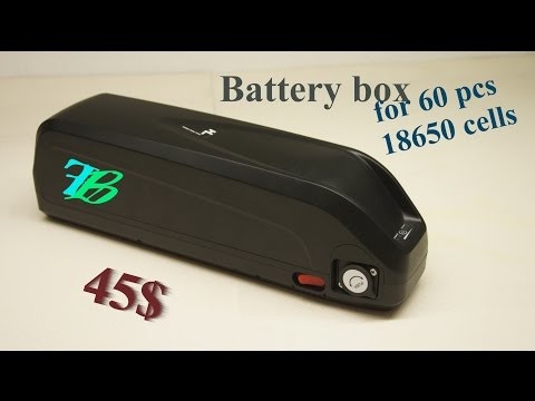 DIY Lithium-Ion Battery Pack e-bike - Part I: box case