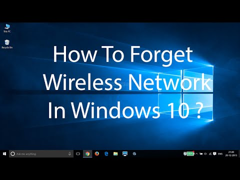 how to forget a network connection on windows 10