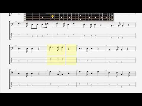 Beatles The   She Loves You BASS GUITAR TABLATURE