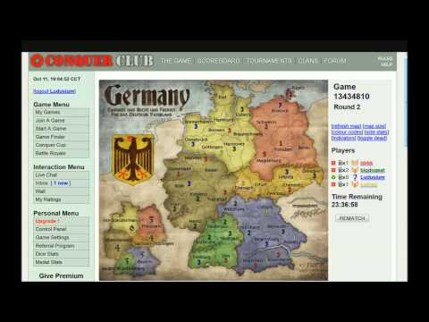 Conquer Club Gameplay - Germany (10/27/13) Part 1