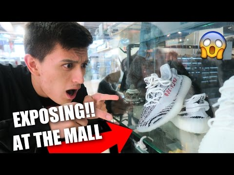 EXPOSING FAKE YEEZYS AT THE MALL!