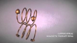 Copper Spiral Magnetic Therapy Ring