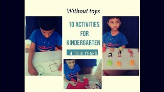10 Activities For Kindergarten| 4 To 6 Years| Indoor Games| Without Toys| Home Items