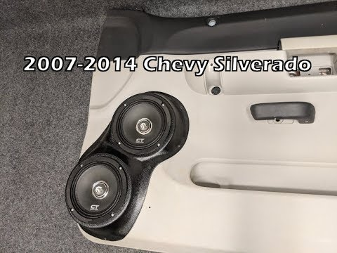 2007 2014 Silverado Dual 6 5 Speaker Pod Installation Youtube