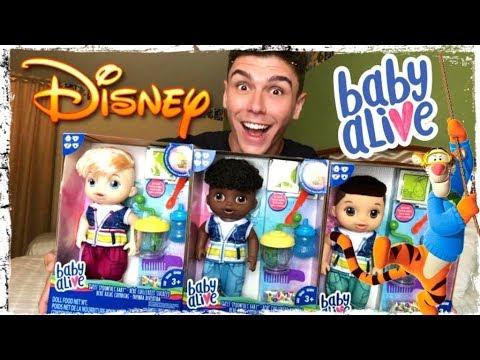 Abrindo 3 Baby Alive na DISNEY! unboxing new baby alive boy