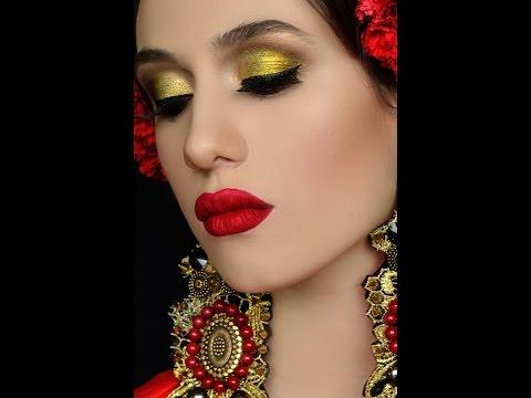 Яркий макияж фото
