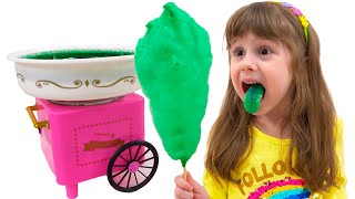 Eve and funny stories - play with sweets for kids