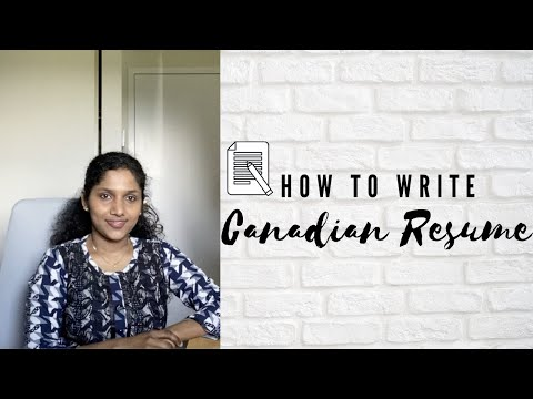 How To Write Canadian Resume/CV Format 2020: Canadian Employer | AIPP | Canada Jobs
