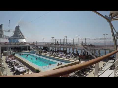 Silversea Silver Muse Ship walkthrough using a GoPro Silver